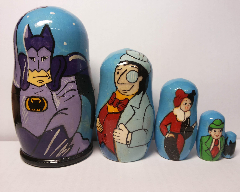 Batman Superheld Kind animierten Comic Cartoon Film Matrjoschka ...
