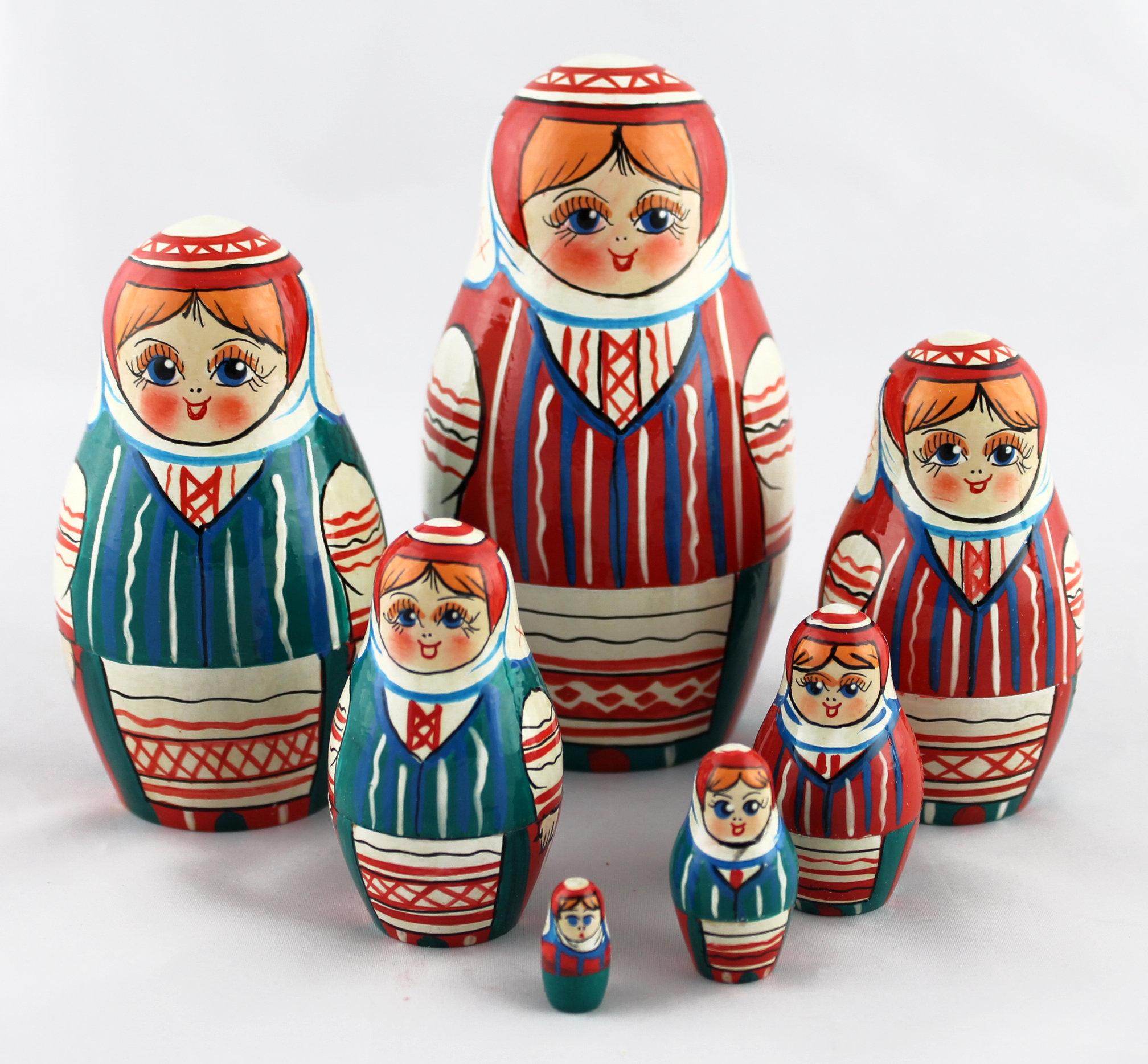 belarus nationalen kleidung handgemachte russische puppe matroschka 7pc eur deutsch. Black Bedroom Furniture Sets. Home Design Ideas